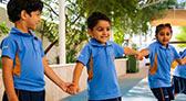 eyfs children holding hands Thank you-prep-right-menu-panel